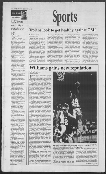 Daily Trojan, Vol. 127, No. 14, February 01, 1996