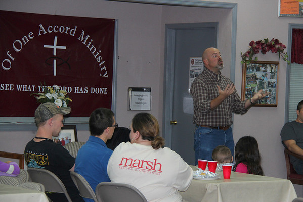 Bowden Baptist distributes Christmas Backpacks,