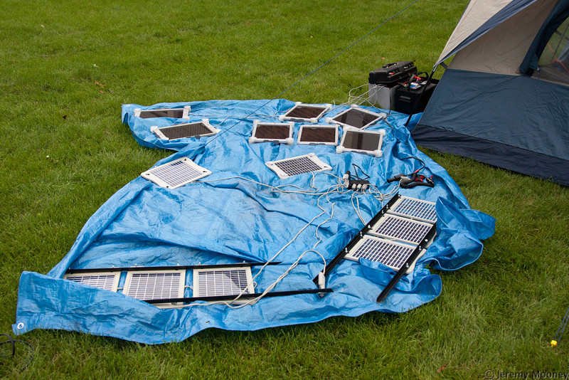 Solar power for the radio