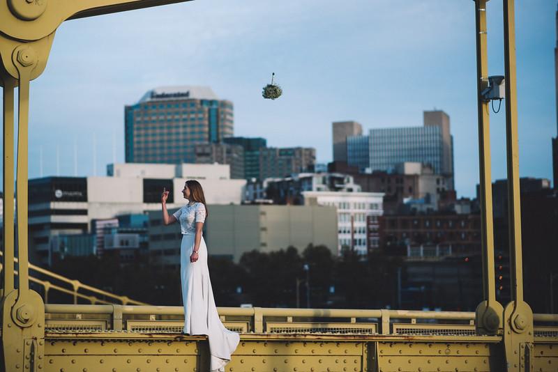 Pittsburgh Elopement Photographer - Monaco Bridge Downtown - Hadley-300.jpg