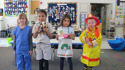 Paradise Canyon Kindergartners Dress for Career Day