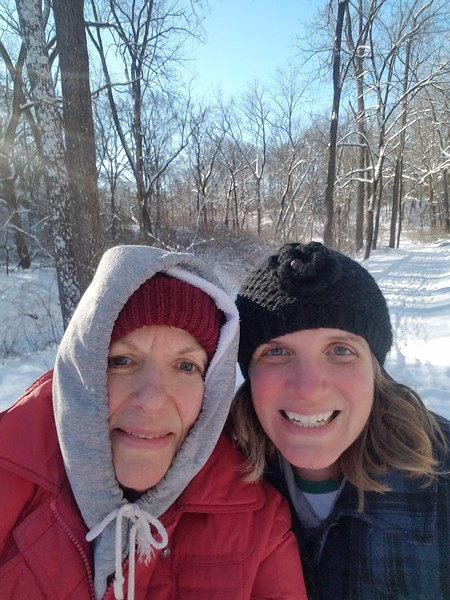 Sarah and Erica went for a long winter walk in the conservancy