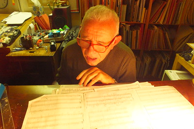 Composer David Del Tredi at work