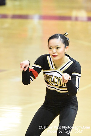2-13-2016 Poolesville HS Varsity Poms at Blair HS MCPS Championship, Photos by Jeffrey Vogt Photography with Kyle Hall