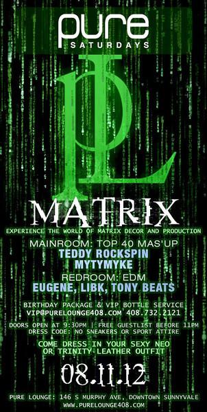 8/11 [Matrix@Pure Lounge]