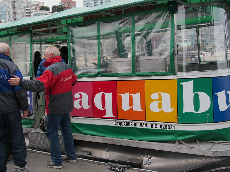 Oct. 19/13 - Taking the Aquabus back to the mainland