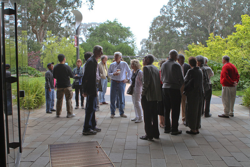 Members and guests of DAASV met at the side entrance.