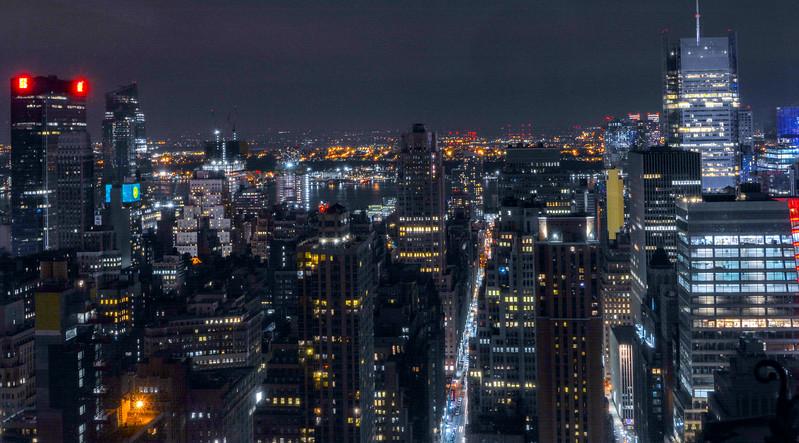 Manhattan Skyline from a living room window