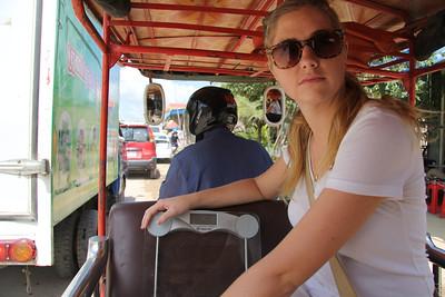 With Kelle in Phnom Penh, Cambodia