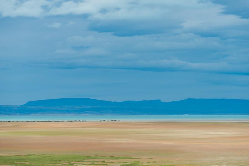 Distant view of Lake Argentino, Los Glaciares National Park, Santa Cruz Province, Patagonia, Argentina