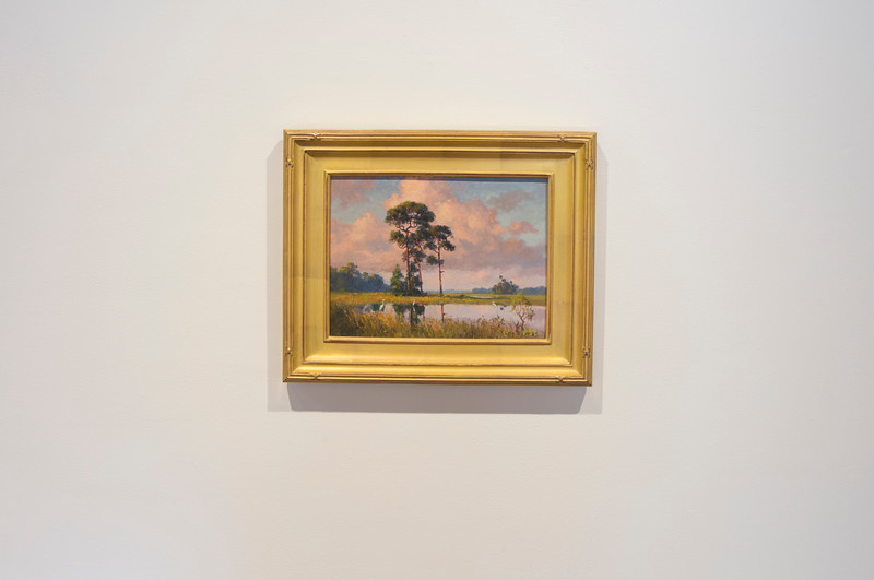 Albert Backus, Treestand in the Florida Everglades, ca. 1970s, oil on canvas