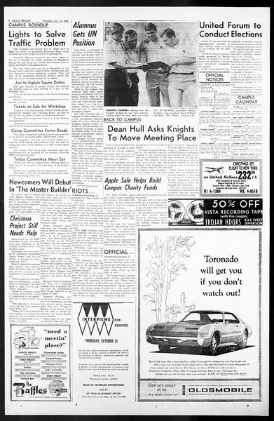 Daily Trojan, Vol. 57, No. 19, October 14, 1965