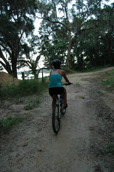 Katie arriving at Piney Z Lake.