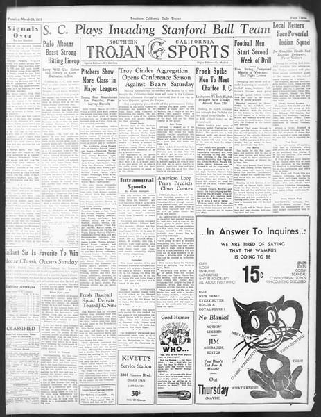 Daily Trojan, Vol. 24, No. 115, March 28, 1933