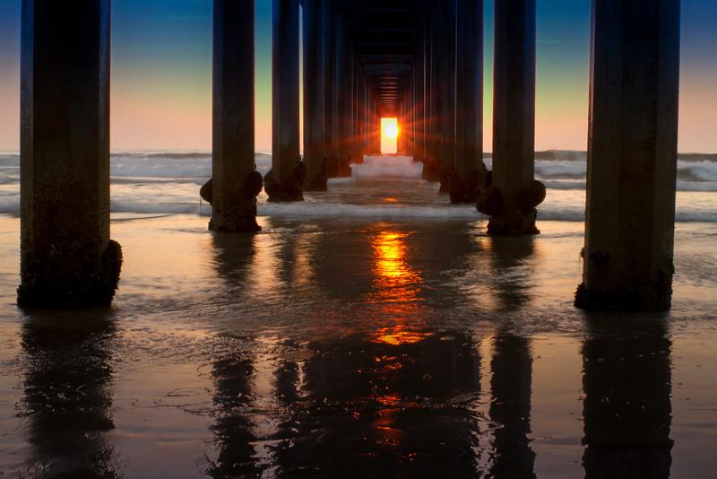 Scripps Pier at Sunset
