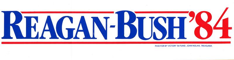 Original 1984 Reagan-Bush bumper sticker