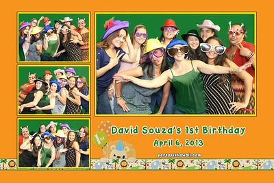 David's 1st Birthday (Multi-Photo Collage)