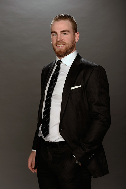 . Ryan O\'Reilly of the Colorado Avalanche poses for a portrait during the 2014 NHL Awards at Encore Las Vegas on June 24, 2014 in Las Vegas, Nevada.  (Photo by Harry How/Getty Images)