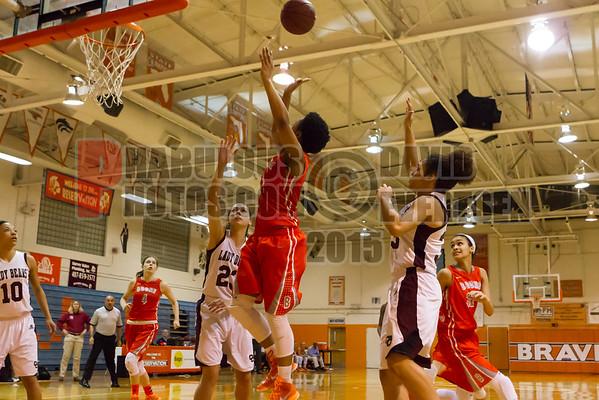 Cypress Creek Bears @ Boone Braves Girls Varsity Basketball  District Championship Game - 2015