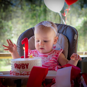 """ Let's Swing and Play! It's Ruby's 1st Birthday!"""