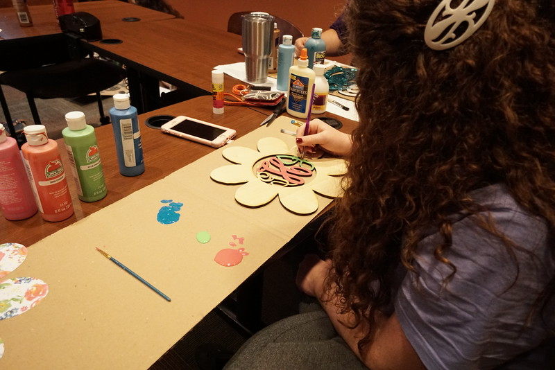 Painting the details on a monogram