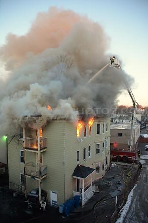 Lawrence, MA 3rd Alarm - 32 Hall St - 1/29/14