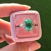2.57ct Colombian Emerald Halo Ring, AGL-certified 14