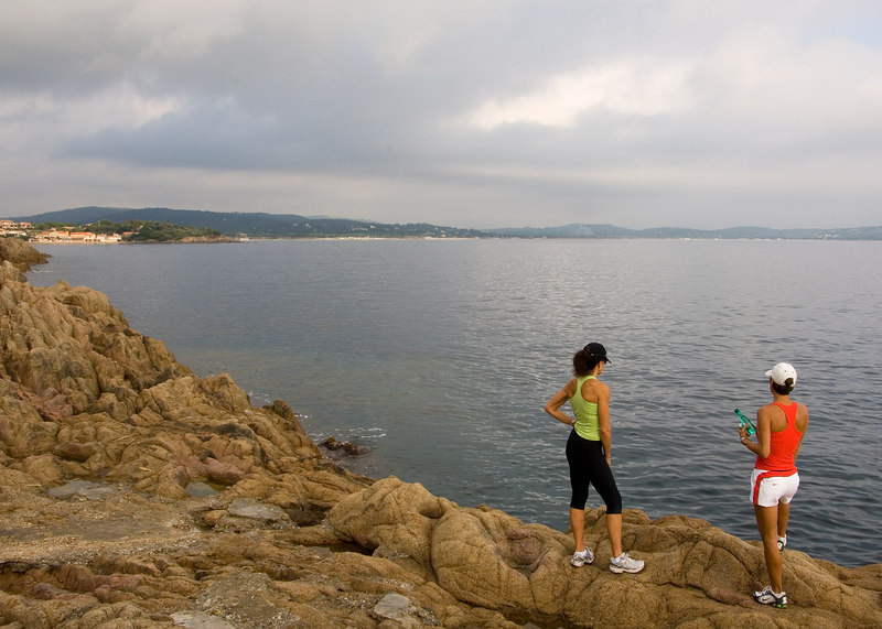 Hiking along the St. Tropez coast.