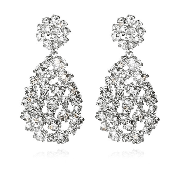 Hanna Earrings / Crystal Rhodium
