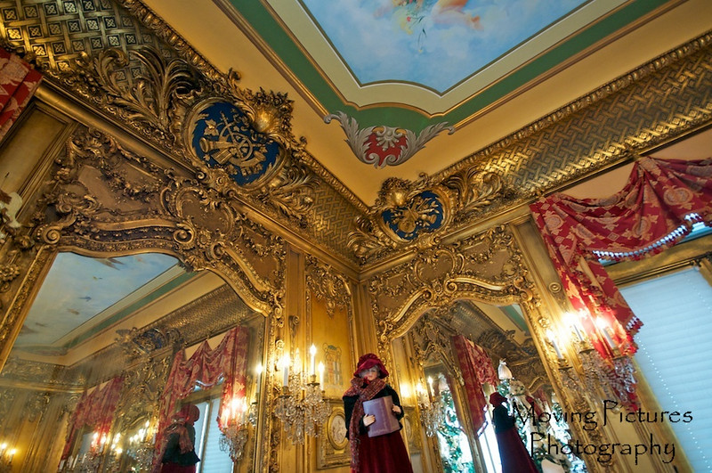Laurel Court - Mirror & ceiling detail in music room