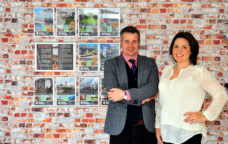 James and Kate Phillips from Mumbles Estate Agency, Carter and Phillips.