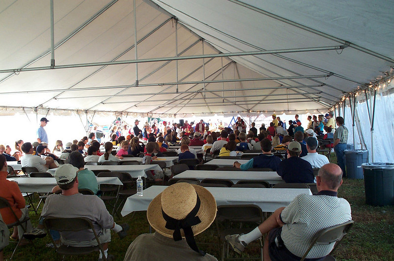 Tent for Skipper's meeting.