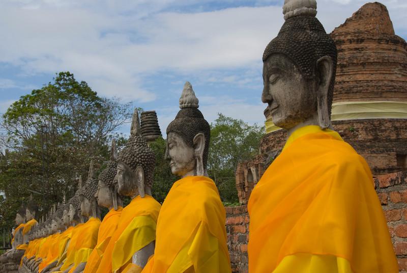 Row of Buddhas 2 - Ayutthaya, Thailand.jpg
