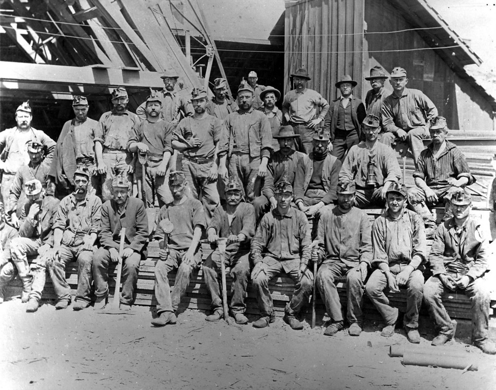. Tesla coal miners, circa 1898. (Livermore Heritage Guild Collection)