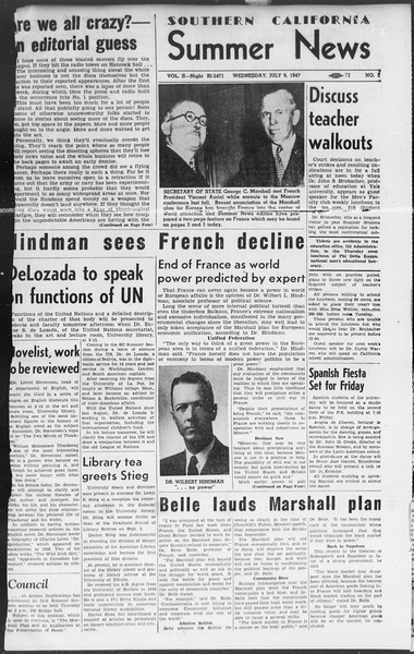 Summer News, Vol. 2, No. 7, July 09, 1947