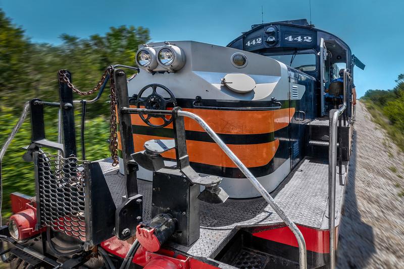 ALCO Diesel 442 Train. Austin & Texas Central Railroad.