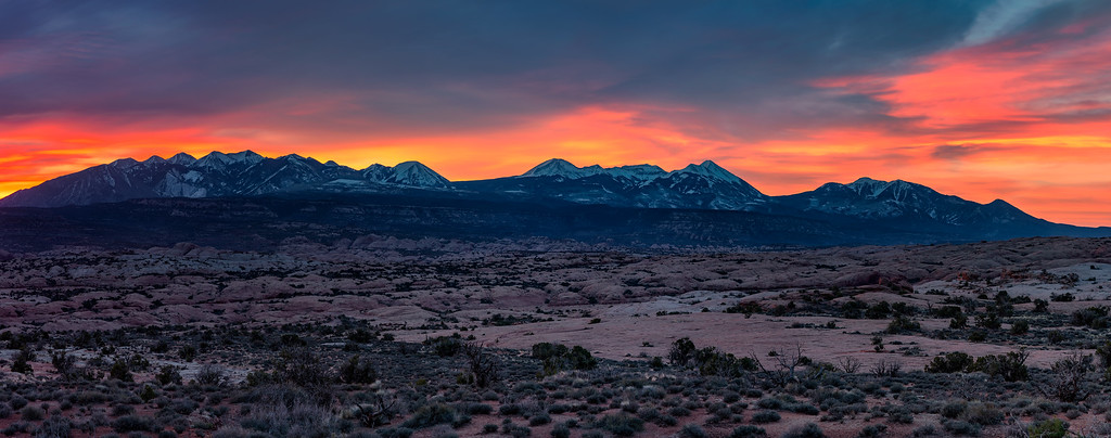 sunsets from utah arches national park