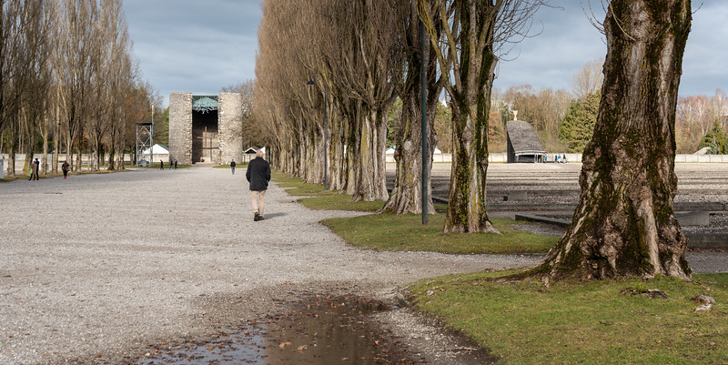 Approaching the Catholic, Jewish and Protestant memorials