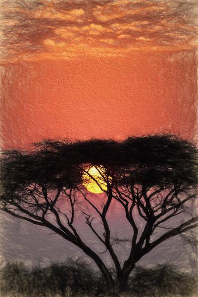 Amboseli Sunset 9976 Art.jpg