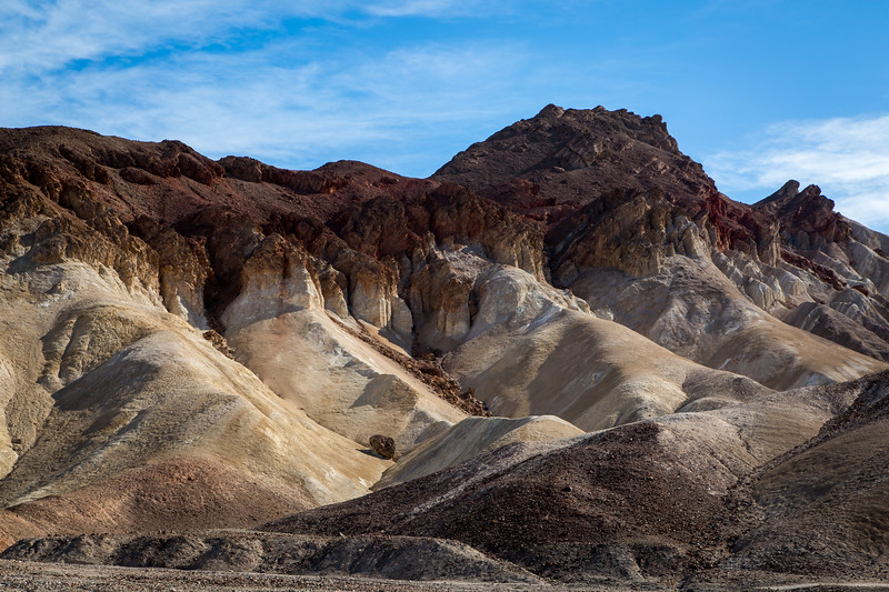 Badlands along Badwater Road