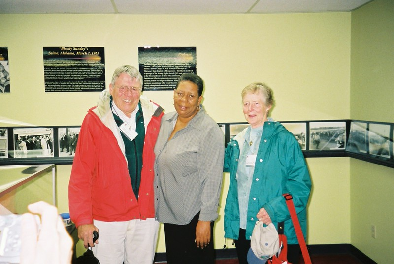 Guthrie and Sue Spears with Selma guide, Joann - Bob Durkee