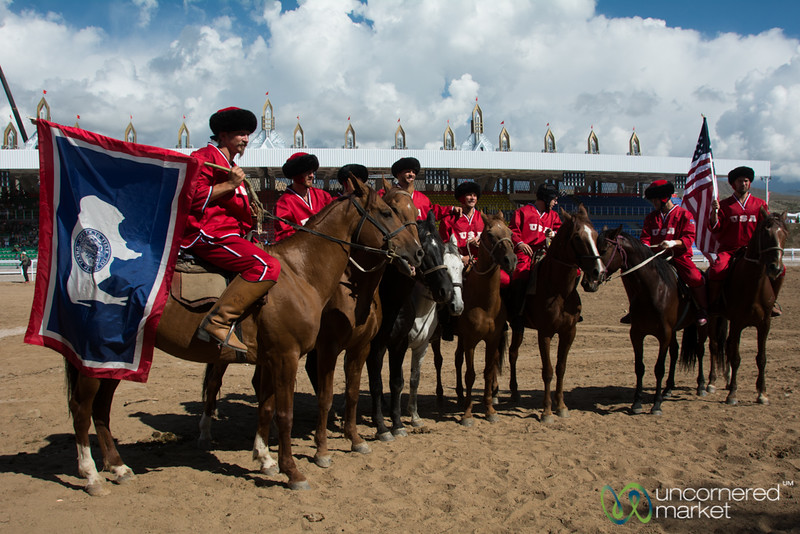 American Kok-Boru Team at World Nomad Games - Kyrgyzstan
