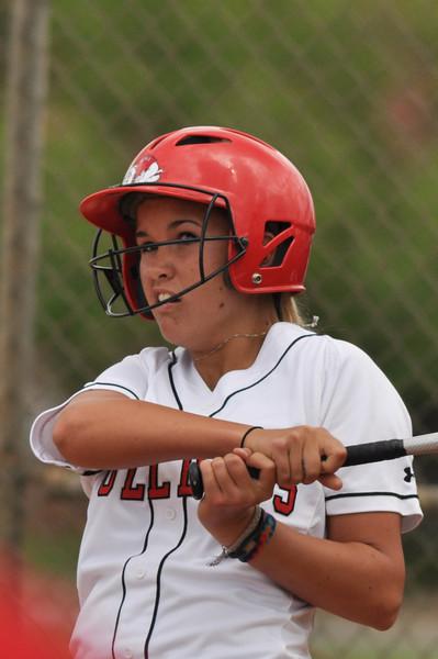 Elizabeth Williams bats against UNC Greensboro on March 22, 2012.
