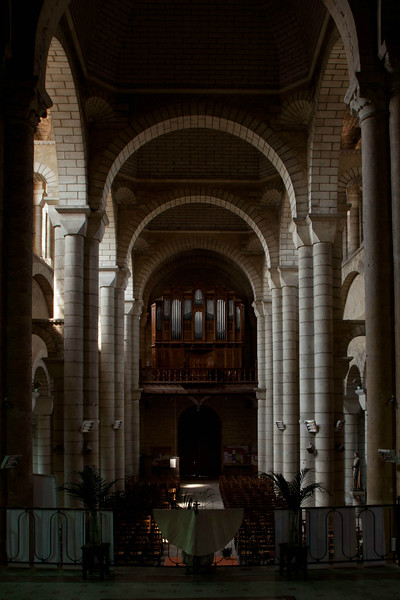 Saint-Hilaire-le-Grand Abbey Nave and Organ Loft