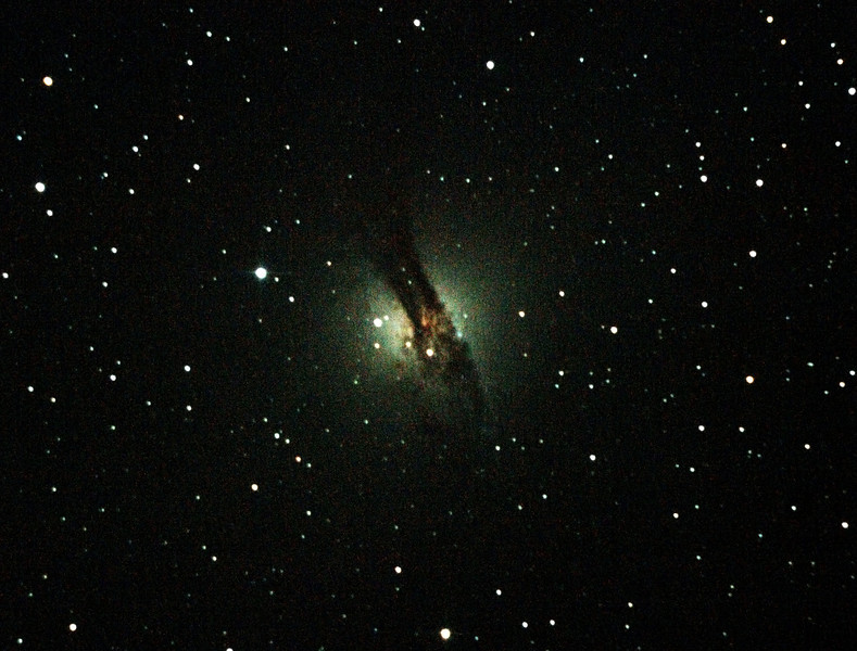 Caldwell 77 NGC5128 Centaurus A Galaxy - 14/04/2012 (Re-processed and cropped stack)