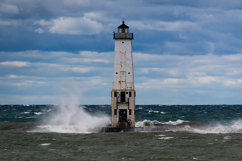 Crashing Wave, Frankfort Light, Michigan