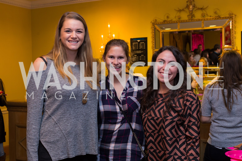 Morgan Zebley, Victoria Wesolowski, Monica Taylor Young Patrons National Theatre Fundraiser November 30, 2017 Photo by Naku Mayo