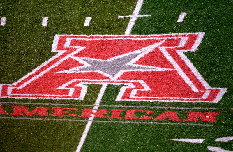 American Athletic Conference logo on TDECU field