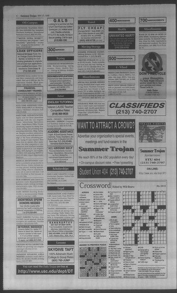 Summer Trojan, Vol. 134, No. 3, May 27, 1998
