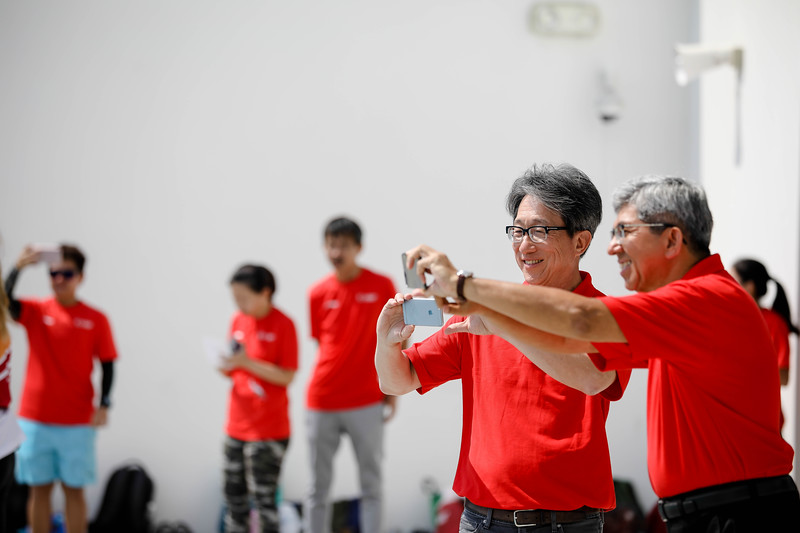 Ministers during aqua exercises at Active Health Lab Launch, taken on 4th Feb 2018 at Heartbeat@Bedok, Singapore. Photo by Sanketa Anand/SportSG